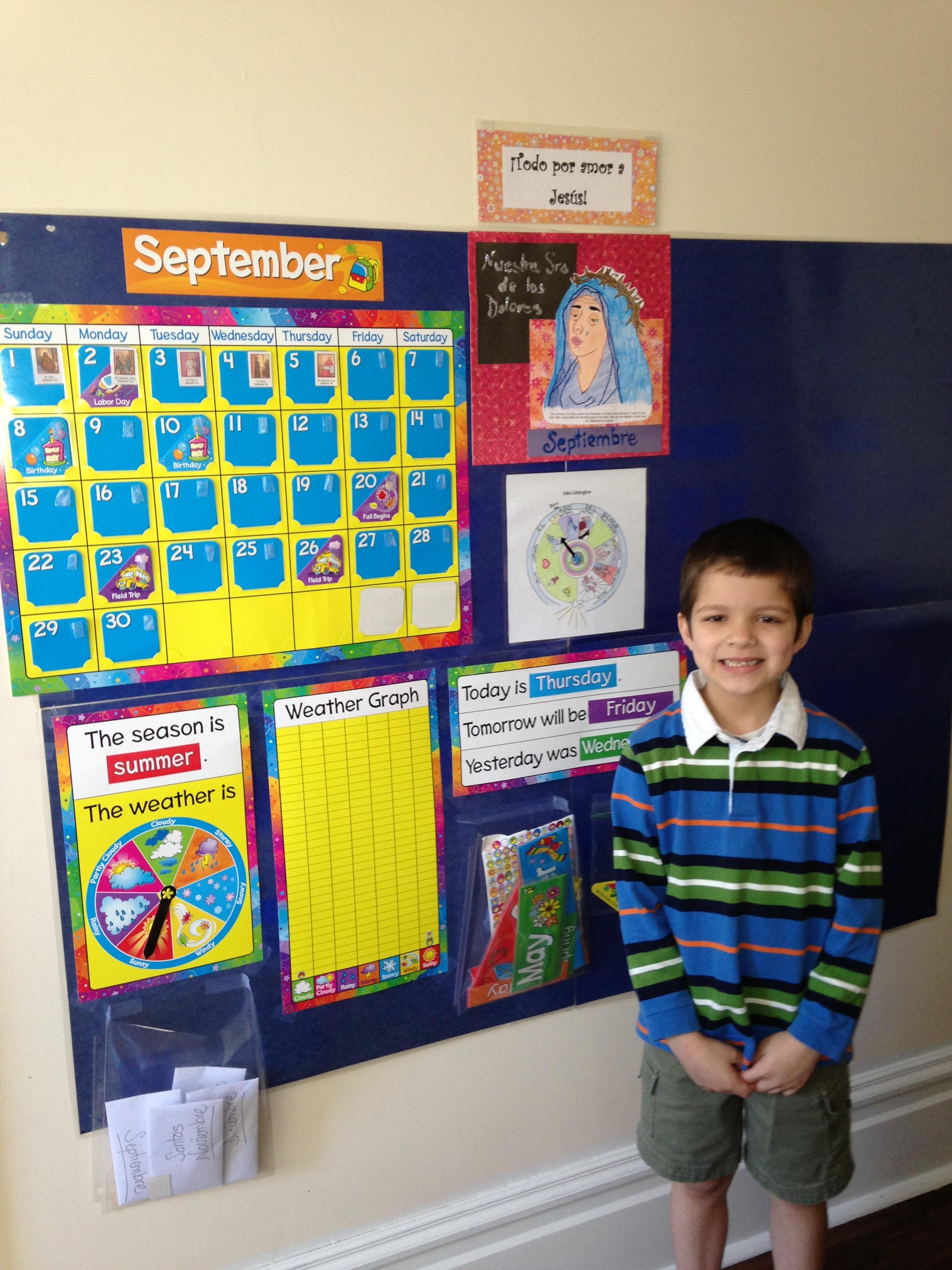 Calendario Para Kinder.Calendario Educativo Catolico Para Kinder Y Primaria Basica