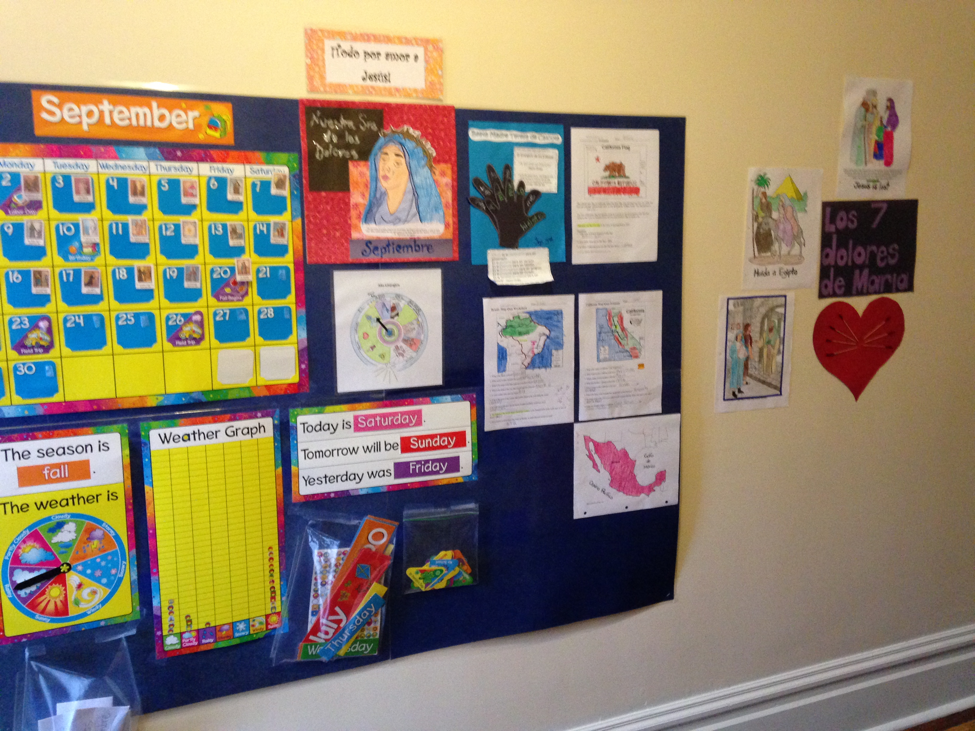 Calendario Para Ninos De Kinder.Calendario Educativo Catolico Para Kinder Y Primaria Basica