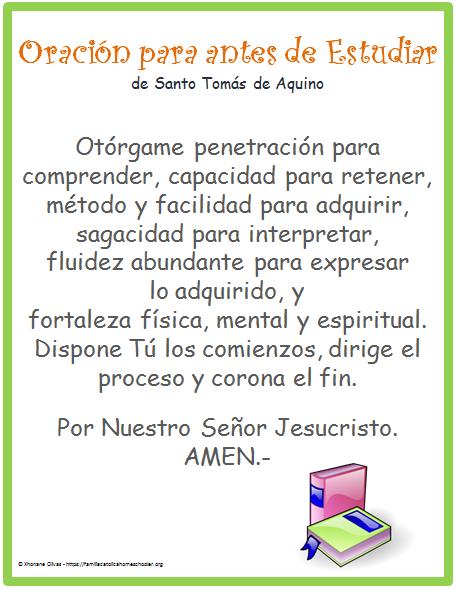 oracion STA peques niñas
