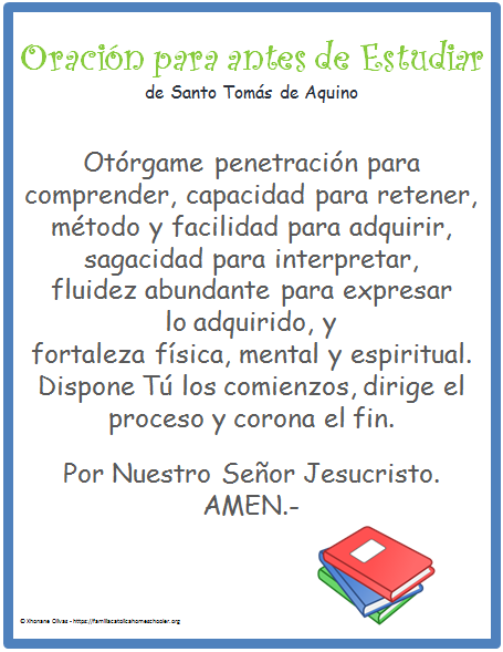 oracion STA peques